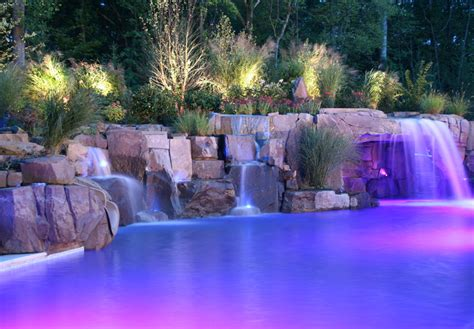 backyard pools with waterfalls backyard swimming pools waterfalls natural landscaping nj