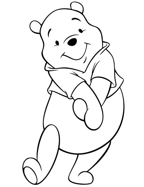 coloring pages disney winnie the pooh cute disney pooh bear coloring page h m coloring pages