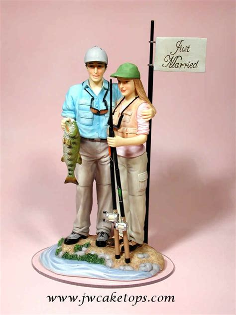 fly fishing wedding cake topper fishing wedding cake toppers the wedding