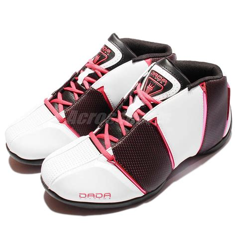 dada supreme basketball shoes dada supreme 4th quarter white black pink karl malone mens