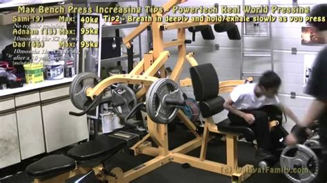 increasing bench press max max bench press increasing tips powertec real world
