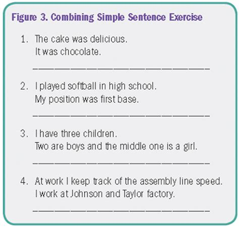 sentence patterns made easy combine sentences adult education and literacy u s