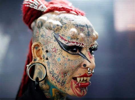 tattoo body modification woman with most extreme body modifications just got even