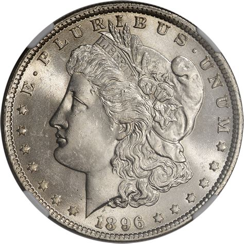 1 Dollar Silver Coin 1896 by 1896 Us Silver Dollar 1 Ngc Ms63 Ebay
