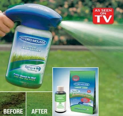 hydro mousse liquid lawn spray on grass seed