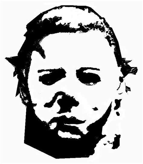 Michael Myers Halloween Pumpkin Stencil - michael myers stencil by reddrmario on deviantart