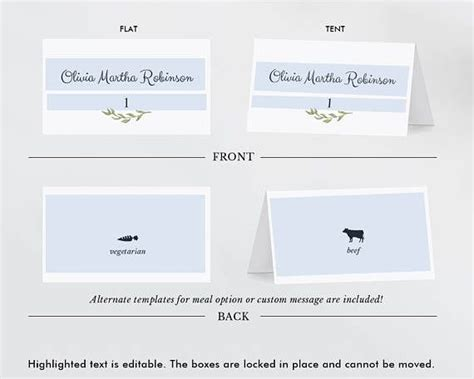 place card size template 25 best ideas about place card template on