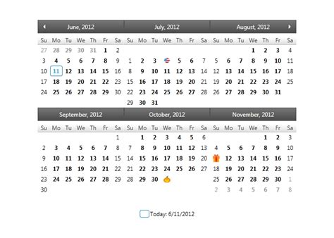 A Calendar Item Selectively Styling Calendar Items Month Calendar Wpf