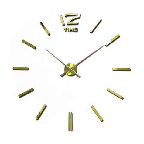 horloge murale stickers 2016 sale 3d large wall clock modern design mirror wall stickers diy clock horloge murale