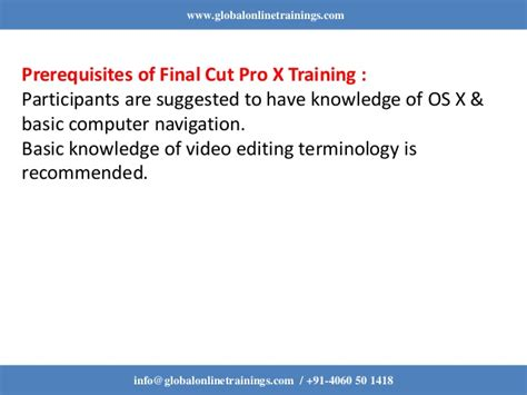 final cut pro online final cut pro x training final cut pro x online training