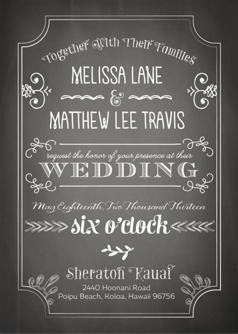 30 Chalkboard Wedding Invitations Ideas Wohh Wedding Blank Chalkboard Invitation Template