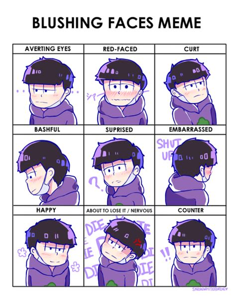 Blushing Meme - blushing faces meme tumblr
