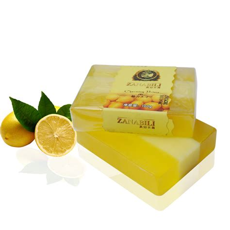 Handmade Brands - zanabili brand lemon soap handmade bath soap for