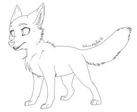 Fox Drawing Outline by Free Foxcub Outline 2012 By Rukifox On Deviantart