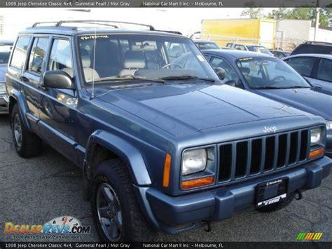 gunmetal blue jeep 1998 jeep cherokee classic 4x4 gunmetal pearl mist gray