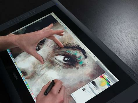 painting for tablet wacom cintiq 22hd touch adds finger friendliness to