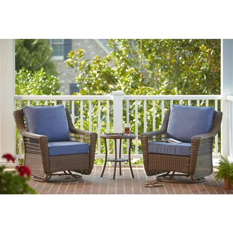 hton bay spring haven brown 3 piece all weather outdoor