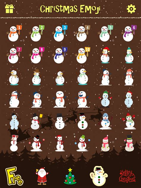 merry christmas emoji holiday emoticon stickers emojis icons  message greeting app