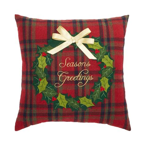 season s greetings holiday throw pillow seasonal