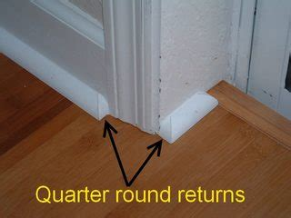 flooring   Why did my installer install 1/4 round corners