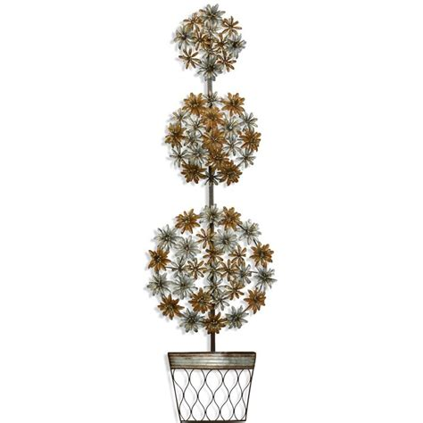 topiary wall potted 3 topiary metal wall sculpture upscale