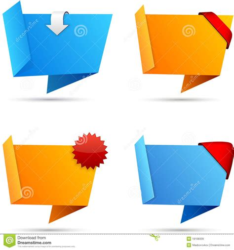 Origami Set - origami set of wallpaper royalty free stock images