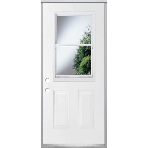Vented Exterior Doors Shop Reliabilt 2 Panel Insulating Vented Glass With Screen Right Inswing Fiberglass