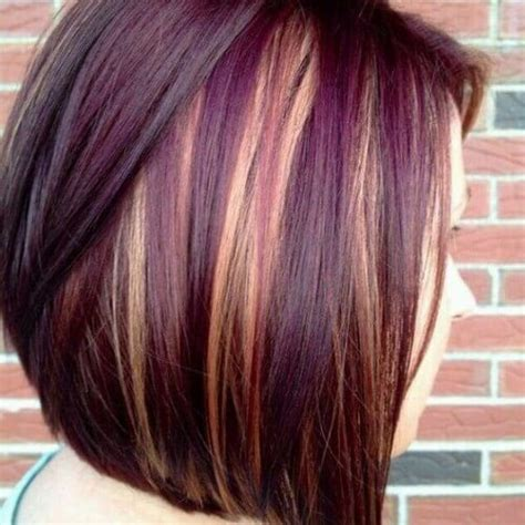 burgandy caramel and brown highlights blonde highlights on burgundy hair my hair styles i like