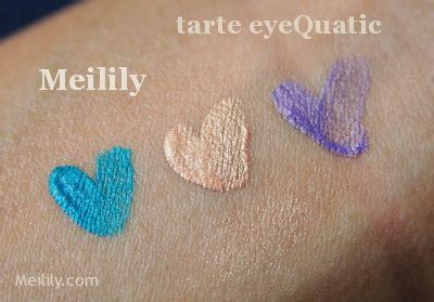 Tarte Lock Roll Eyeshadow Duo by Product Photos Swatches Tarte Eyequatic Waterproof
