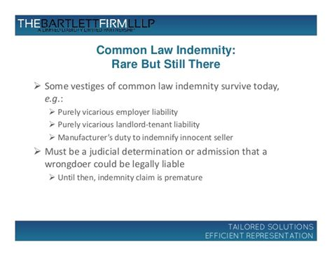 Court Employee Admission Of Vicarious by Indemnity Update