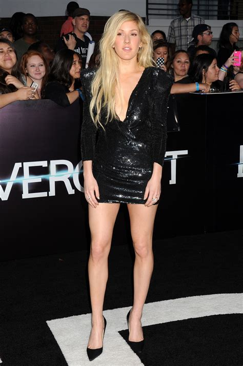 Minidress Elie ellie goulding in mini dress divergent premiere in los