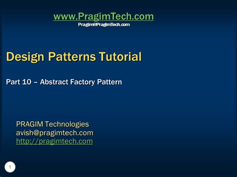 design pattern tutorial c sql server net and c video tutorial abstract factory