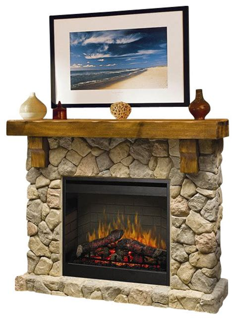 Rustic Electric Fireplace Dimplex Electraflame Fieldstone Free Standing Electric Fireplace Rustic Indoor
