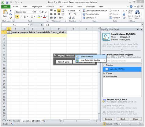 Mysql Check Table by Mysql For Excel Cerveser