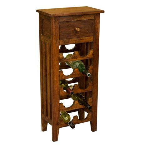 Wood Wine Rack by Lisbon Solid Acacia Wood Wine Rack 10 Bottle Solid