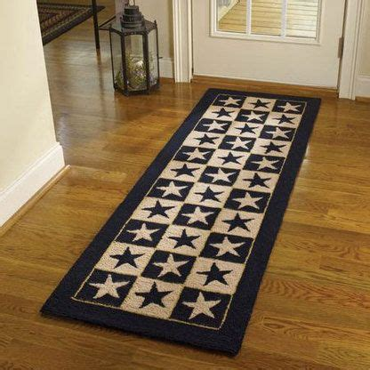 Primitive Kitchen Rugs Black Hooked Rug Runner Black