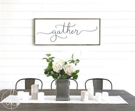 gather sign dining room sign large gather sign