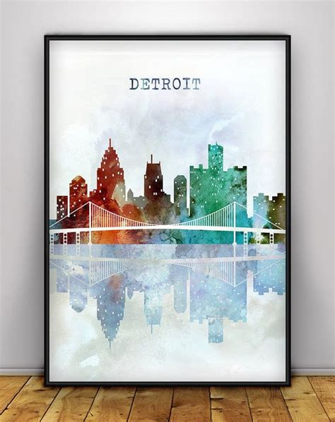 watercolor tattoo artists metro detroit 25 best ideas about detroit on skyline