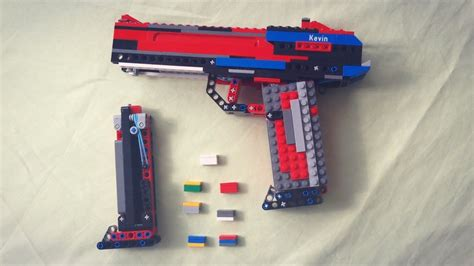 lego revolver tutorial lego pistol v2 working tutorial youtube