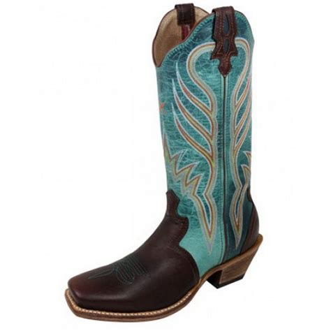 twisted x western boots womens cowboy leather brown turq