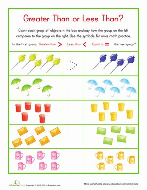 printable math worksheets less than greater than less than greater than worksheet education com