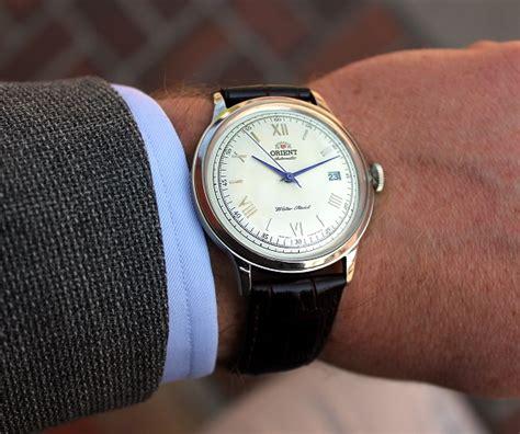 Orient Bambino Automatic Blue win it the orient bambino white blue vintage look automatic
