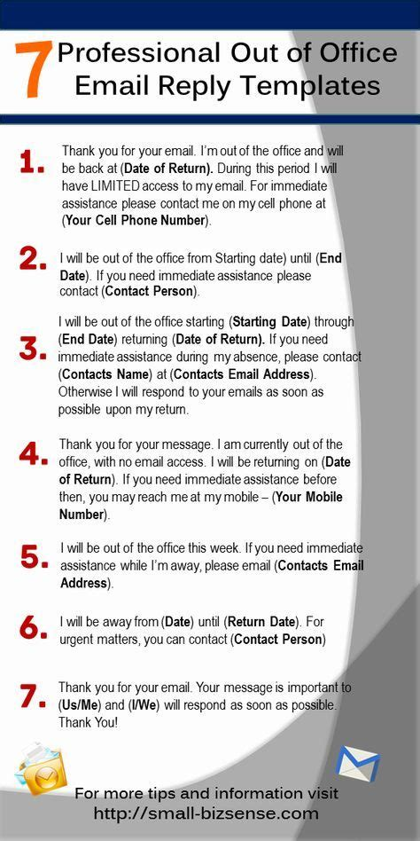 out of office email template 25 best ideas about out of office reply on professional etiquette office