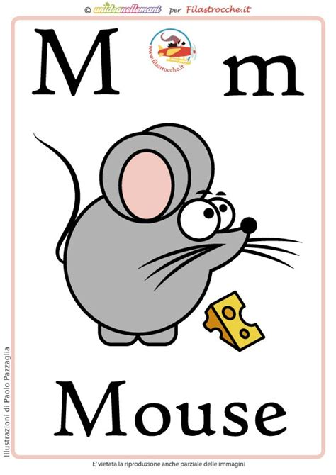schede lettere alfabeto schede alfabeto inglese da stare lettera m