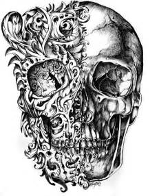 doodle skull meaning black and white hd wallpapers pulse