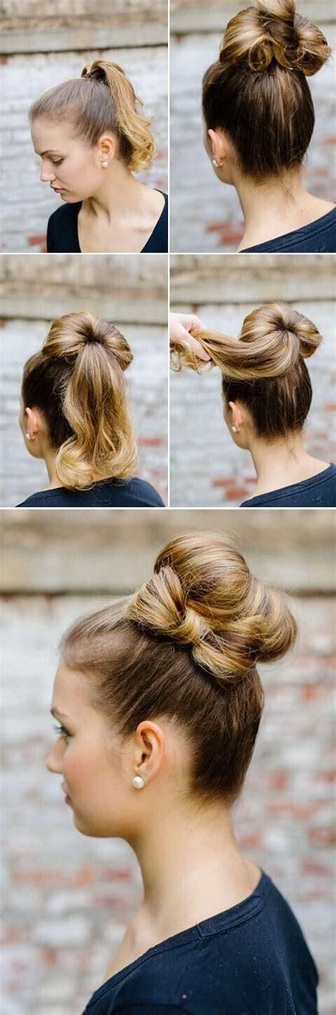 easy  chic bun hairstyles  medium hair pretty