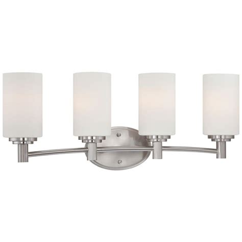 homedepot bathroom lighting lighting prestige 5 light brushed nickel wall