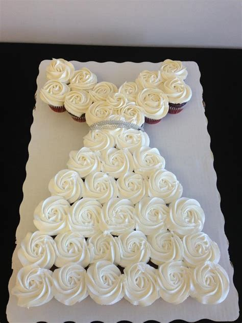 bridal shower cakes made of cupcakes wedding dress cupcakes for a bridal shower s cakes