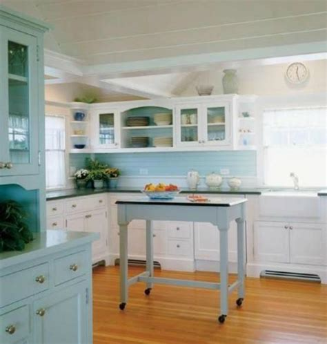 Coastal Kitchen Cabinets Coastal Kitchens Coastal Kitchen With Seafoam Green And Seaglass Color Cabinets Kitchen