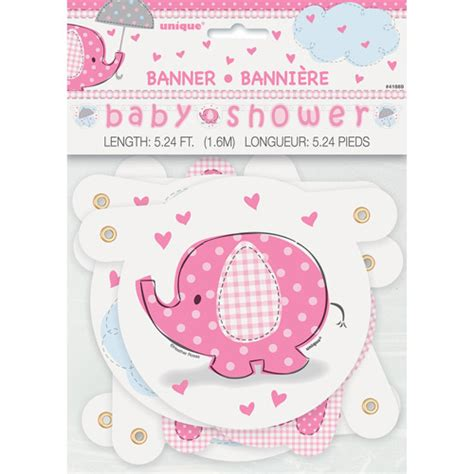 Walmart Baby Shower by Pink Elephant Baby Shower Jointed Banner Walmart